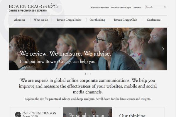 Bowen Craggs (Website Home Page) [screenshot]