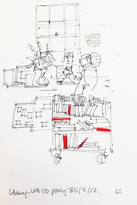 Live illustration by Lydia Thornley