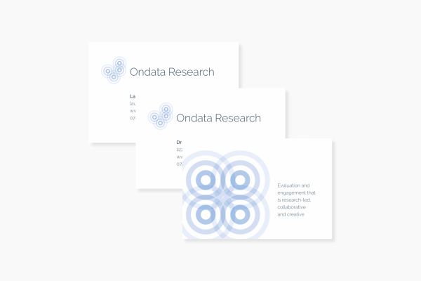 Ondata Research - business cards (graphical image)