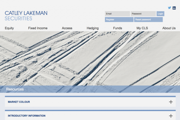 Catley Lakeman Securities (Website screen-shot)