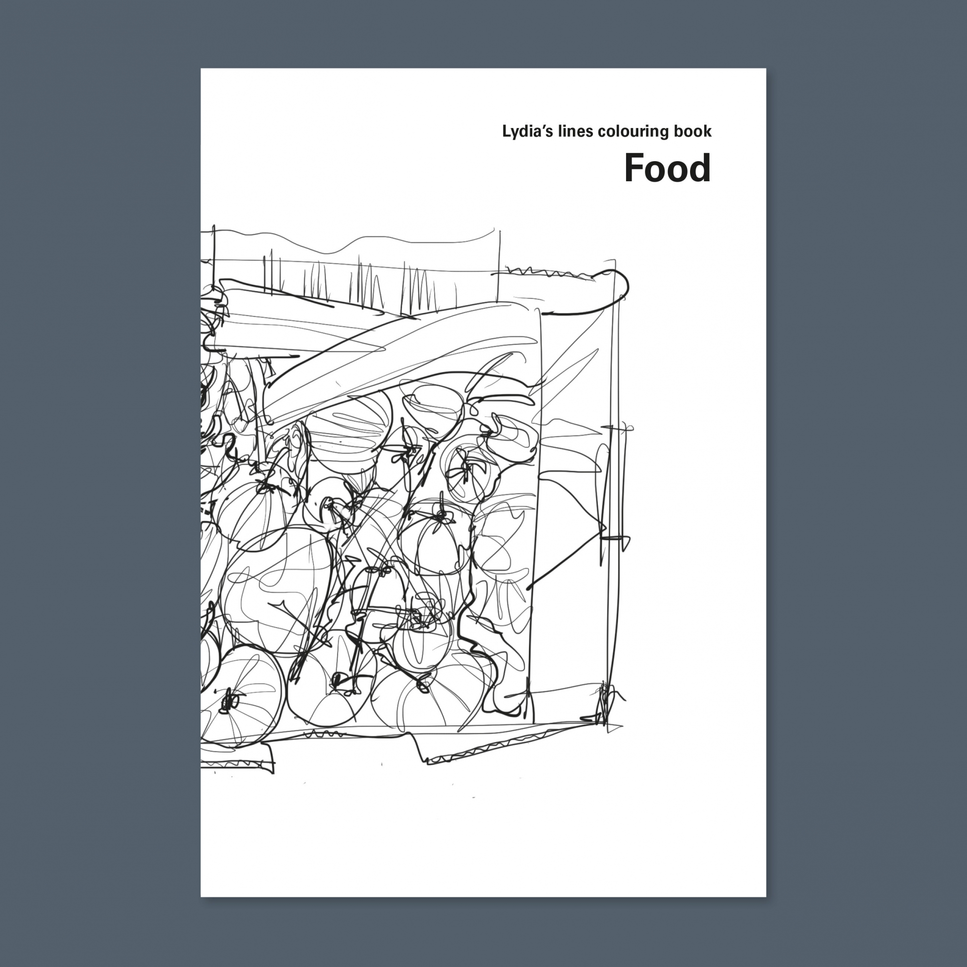 Lydia Thornley colouring book - Food (cover)